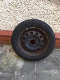 Ka spare wheel and tyre 165/65/13