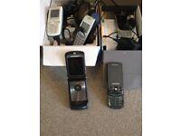 VARIOUS Mobile Phones x 5 - O2, Nokia, Sony, Motorola, Samsung