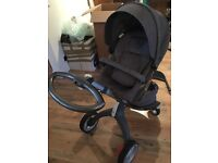 Stokke Xplory V4 Black Melange 9 Months old EXCELLENT CONDITION