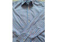 Lambretta Pink/blue Striped Shirt Size M, paypal accept