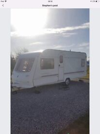 Crown fixed bed 4 berth caravan 2001