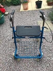 Four Wheeled Mid Blue Walker