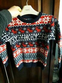 Next Christmas jumper age 3-4