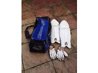 Cricket gear as seen