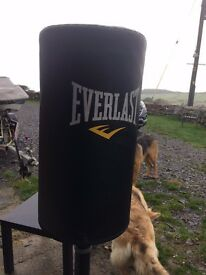 large heavy duty boxing bag fills with sand or water