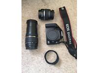 Canon 1000D plus Tamron connector lens