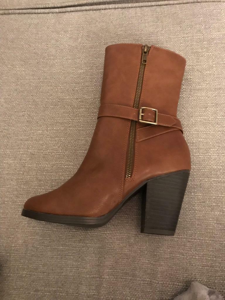 6503de07e23 New Look tan mid calf boots, size5, RRP£39.95   in Leith, Edinburgh    Gumtree
