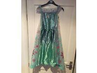 Elsa - Disney Frozen Fever - Childrens fancy dress costume - Age 5-6