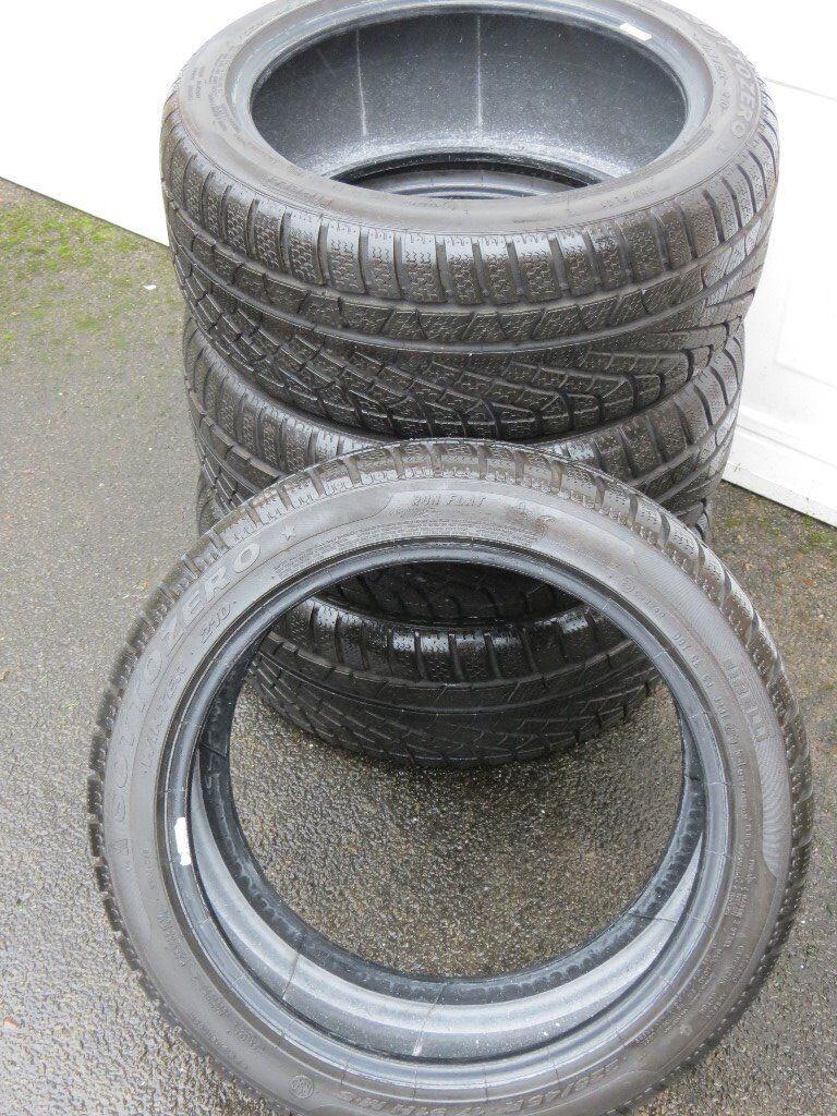 225 45 17 Pirelli Winter tyres - runflats (like new)