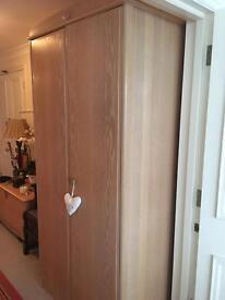 Solid light oak wardrobe