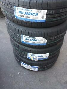 BRAND NEW WITH LABELS HIGH PERFORMANCE ' H ' RATED  WEATHERMAXX 225 / 55 / 18 ALL SEASON TIRES
