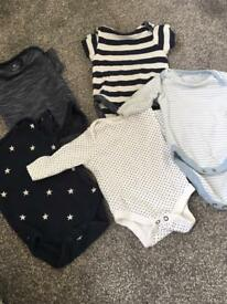 5 next good condition , also 3 George baby grows one m&s and also one mothercare size 0-3