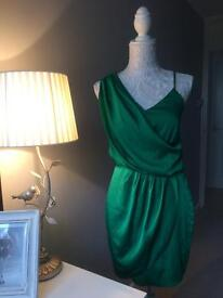 Emerald Green Silk Dress