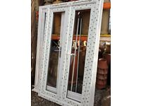 New White UPVC French Patio Door Glass 1150mm W x 2060mm H