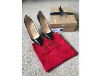 So Kate 120 Black Leather Heels