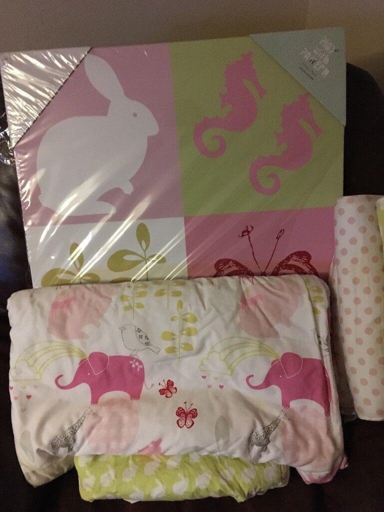 Mamas and papas cot bed bumper set