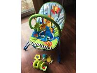 Baby bouncer chair and pushchair bar toy