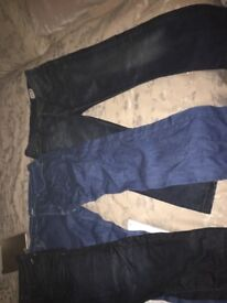 Bundle of men's designer jeans