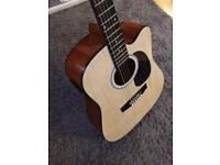 Electro acoustic guitar with paded Carry Bag