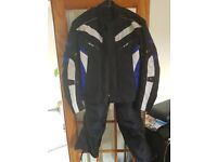 Textile Waterproof Motorcycle Jacket and Trousers. Size 3XL.