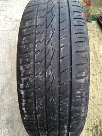 Cross Contact Continental Tyre 235/55/R19 Part Worn