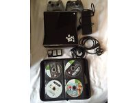 Xbox 360 S 24 Games, 2 Controllers, HDMI, In Game Charger, 3 Battery Packs