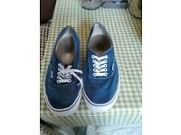 Vans canvas pumps size 10