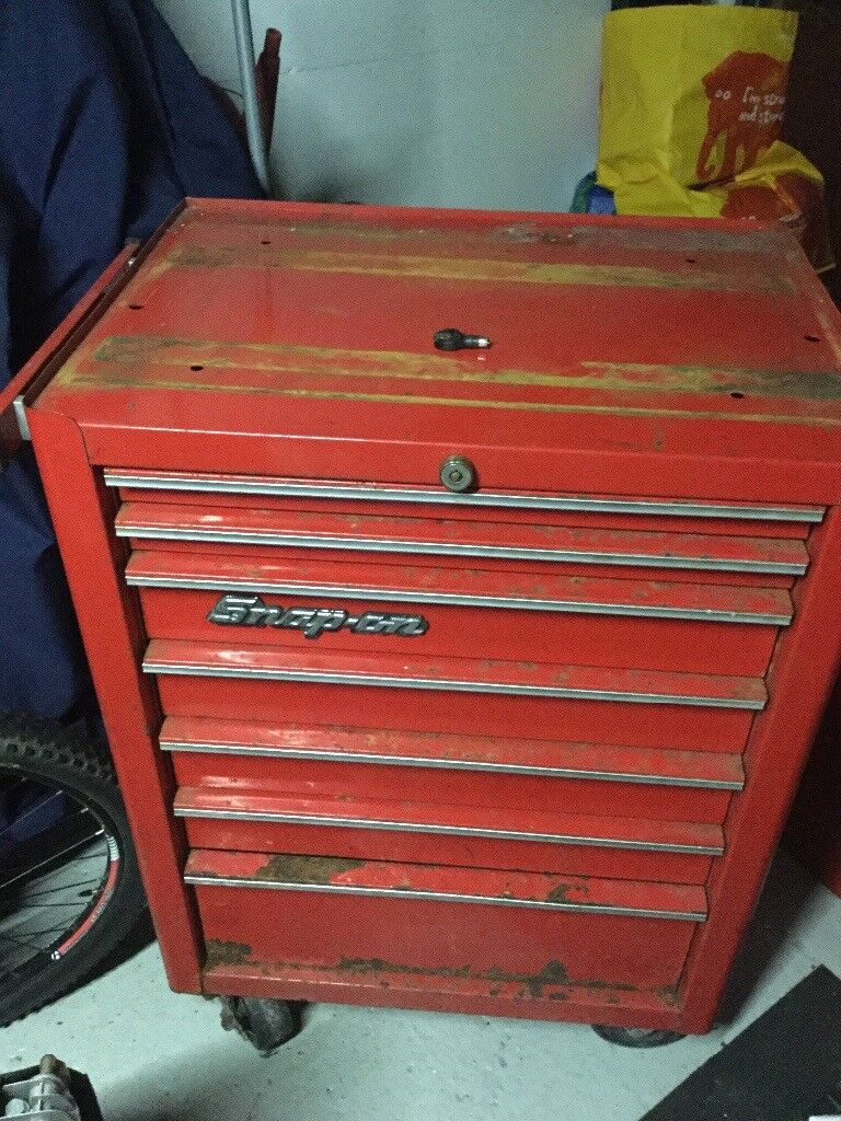 """Snap on roll cab tool chest very used 26"""" plus key"""