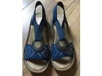 Brand New Sandals size 6 from Riekers Blue