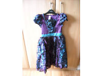 Witches dressing up dress and broom age 7-8 years