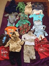 Baby boy BIG clothes bundle over 20 items 12-18 months