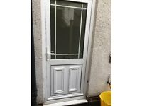 White double-glazed UPVC door