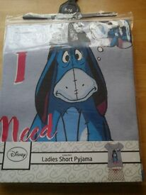 "Eeyore "" I Need Coffee "" pyjamas"