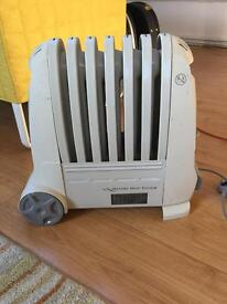 Oil filled electric heater.