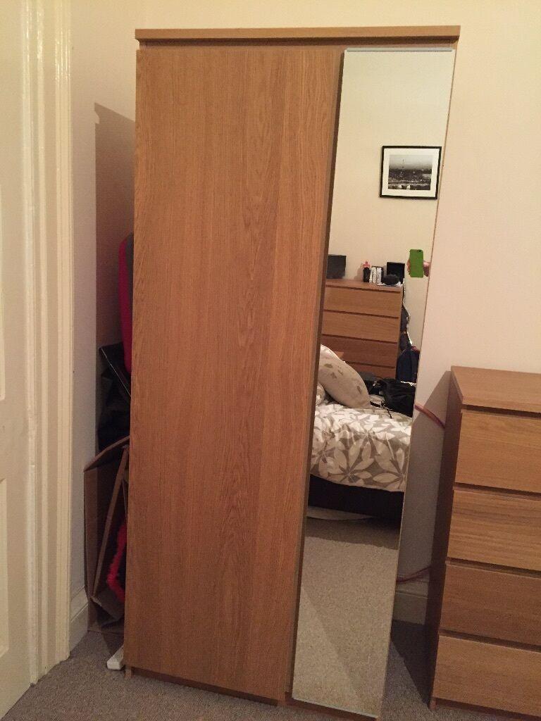 ikea ransby wardrobe oak veneer malm range in clifton bristol gumtree. Black Bedroom Furniture Sets. Home Design Ideas