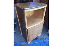 Old 1950s bedside cabinet ,looking for a makeover