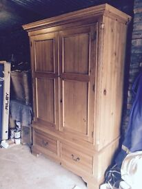 Quality solid pine wardrobe, 2020 high x 1360 wide x 650 deep