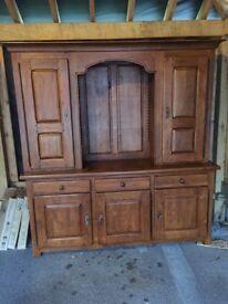 Large solid oak rustic look dresser: Price drop !
