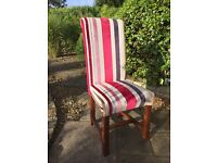4 X Large elegant striped dining chairs