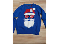 Santa Jumper by Next - Age 10 Years - Brand New