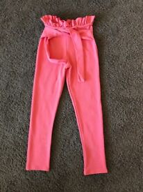 "Size 8 ""Pretty Little Thing"" high waisted, paper bag trousers"