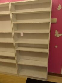 8 x WHITE 5 SHELVING UNITS FOR SALE