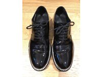 Men's Black Patent Diamonte Bling Jimmy Choo Shoes - size 8 (42) worn couple times only
