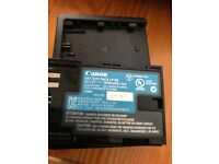Canon LP-E6 battery and charger pack