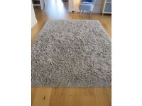 Ikea GASER beige high pile shaggy rug. Excellent condition