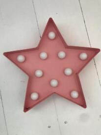 Pink ZARA star light
