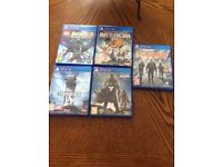 PS4 5 games in good condition.