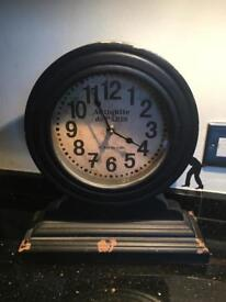 Next antique worn style clock. 33cm tall