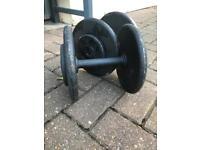 Iron dumbbells 12kg x 2