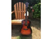 Sunburst Fender CD-60 Acoustic Guitar